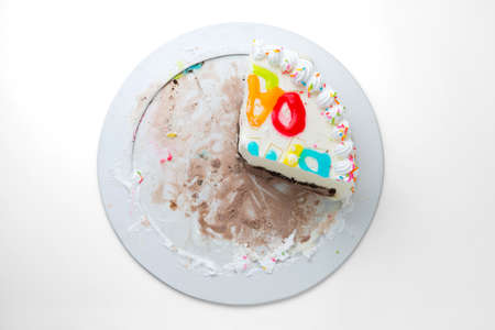slice of cake: slice cake isolated on a white background