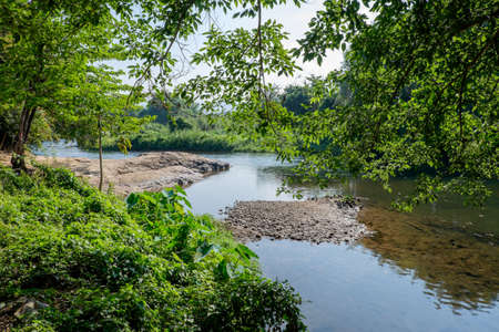 streamlet: landscape with river in Nakhon Nayok Province, Thailand