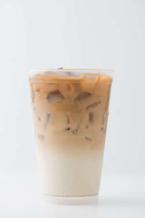 isolated  on white: Iced coffee
