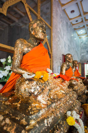 chalong: Buddha Statue in Wat Chalong, Phuket Thailand Stock Photo