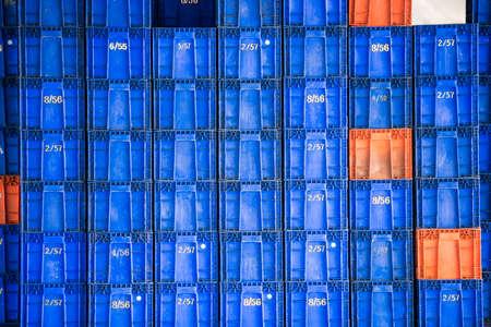 plastic container: Plastic container pile Stock Photo