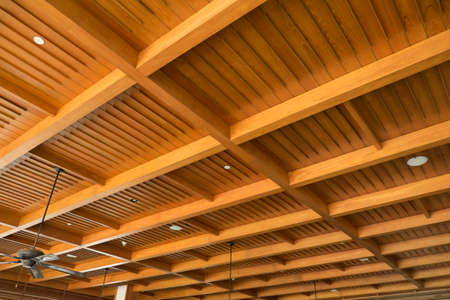 ceiling: wood ceiling Stock Photo