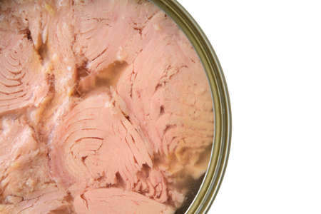 canned: canned tuna isolated on white Stock Photo