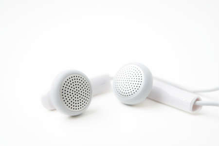 earbuds: earbuds on white background