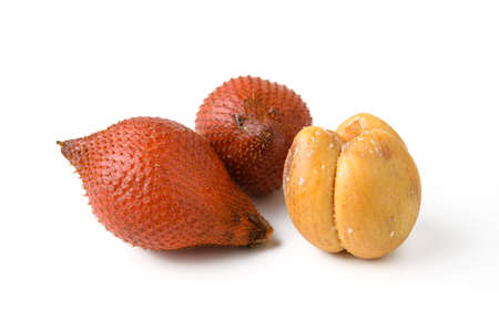 trees with thorns: salacca fruit on white background