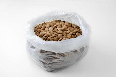 pet food: pet food in plastic bag Stock Photo