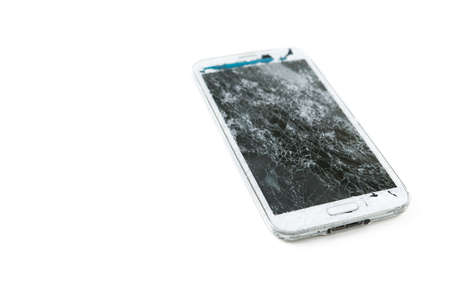 electrical materials: broken mobile phone Stock Photo