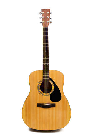 isolated  on white: Acoustic guitar with clipping path