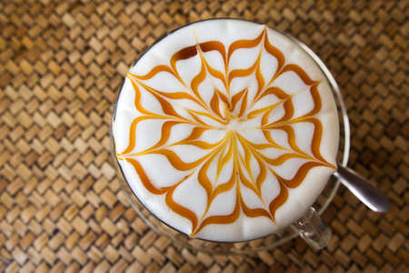 frothy: frothy cappuccino coffee