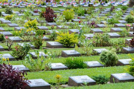 prisoner of war: kanchanaburi war cemetery