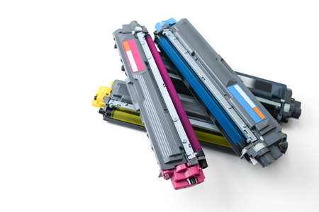 cartridges of color laser printer Stock fotó
