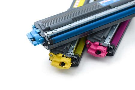 cartridges of color laser printer Standard-Bild
