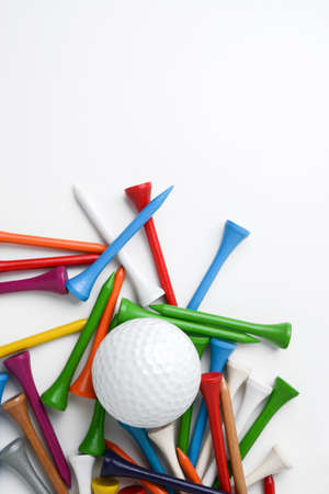 recreational pursuits: golf ball and tee Stock Photo
