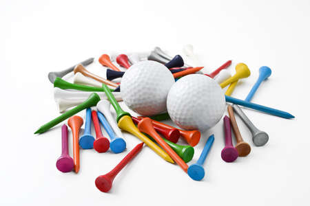 pursuits: golf ball and tee Stock Photo