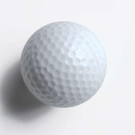 pelota de golf: pelota de golf con el camino de recortes