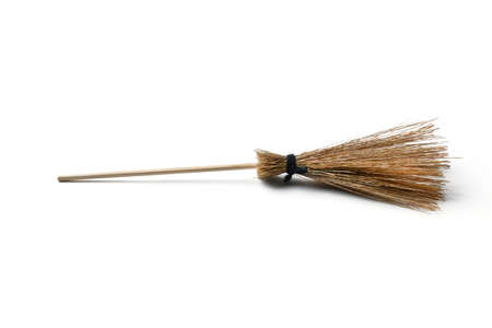 witch broom isolated on white