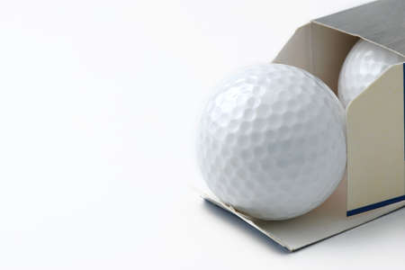 golf ball: open new golf ball from box
