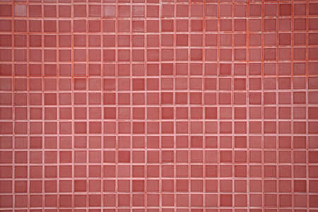 building feature: pink tile wall background Stock Photo