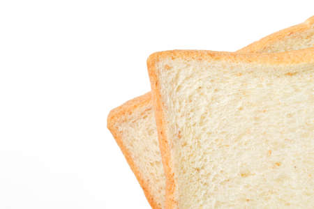 sliced bread: sliced bread on white background Stock Photo