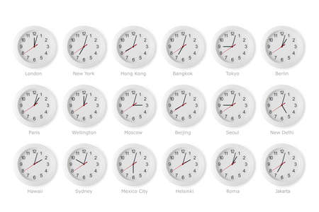 time zone: time zone world Stock Photo