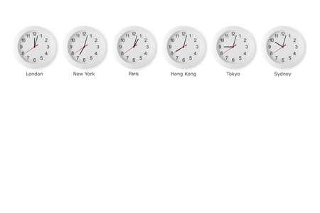 12 o'clock: time zone world Stock Photo