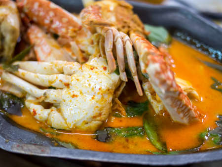 coconut crab: curry crab with coconut milk Stock Photo