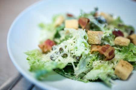 caesar salad with parmesan cheese Stock Photo