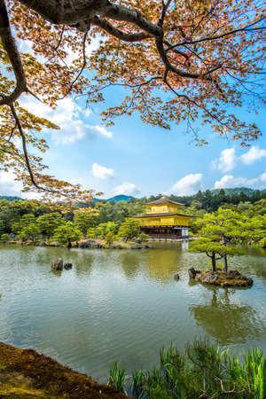 popular: Architecture at Kinkakuji Temple (The Golden Pavilion) in Kyoto, Japan