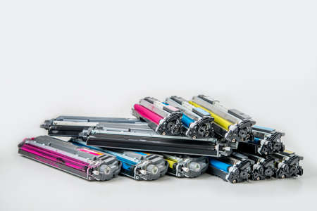 used laser toner cartridge Фото со стока