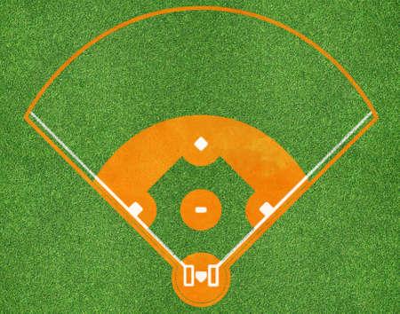 棒球场俯视图