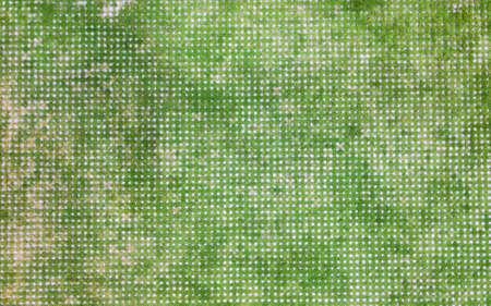blocco di cemento quadrato con erba verde sulla passerella