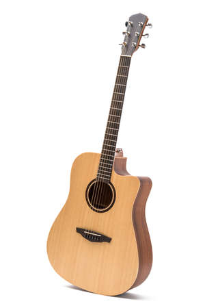 acoustic guitar isolated white background Stok Fotoğraf