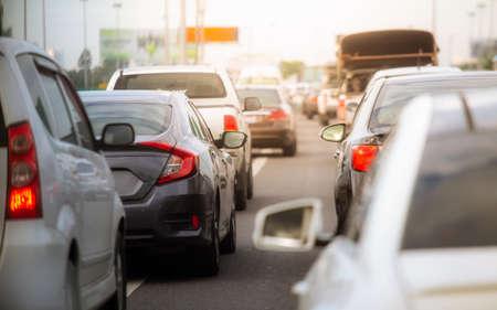 Traffic jam at highway in Bangkok, Thailand Stok Fotoğraf
