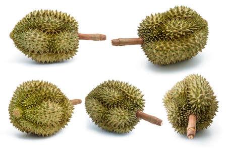 Fresh durian isolated on white background