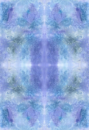 Seamless abstract icy blue watercolor geometric pattern  photo