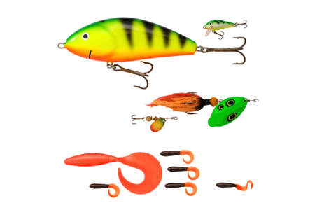 size comparison of different fishing baits photo