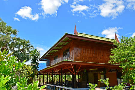 bluesky: Thai house with bluesky in thailand