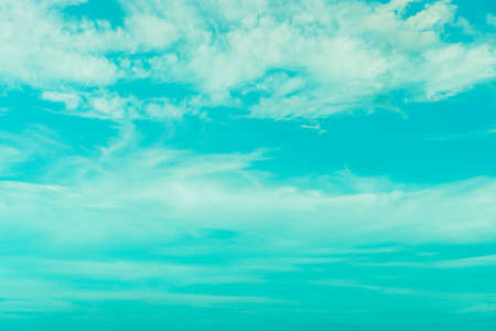 Copy space summer blue sky and white cloud abstract background. Stock fotó