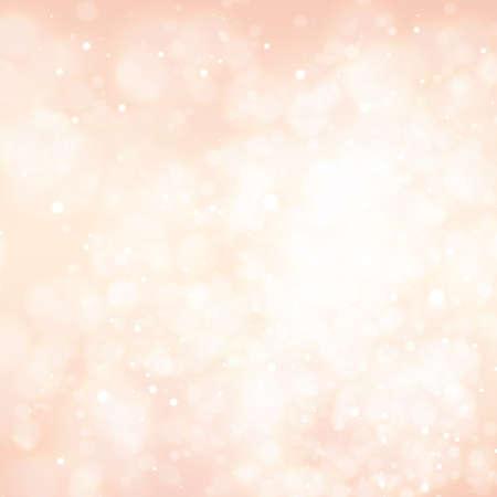 Abstraktes buntes Bokeh und leuchtende funkelnde glänzende Partikel in zufälligem Hintergrund. Lichteffekte des Blitzes. Unscharfer Vektorhintergrund mit hellem Glanz, Illustration EPS10.