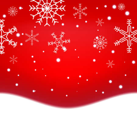 Chritmas and New year holiday celebration theme colorful red gredient abstract background with snow flake winter season. Illusztráció