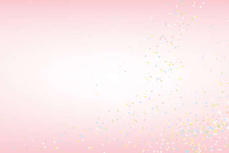 Abstract random pastel color particles on pink background. EPS10 vector illustration design.