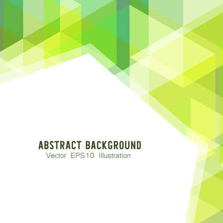 Abstract geometric or isometric white and green polygon or low poly vector technology concept background. EPS10 illustration style design.