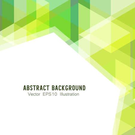 Abstrakter geometrischer oder isometrischer weißer und grüner Polygon oder niedriger Polyvektortechnologiekonzepthintergrund. EPS10 Illustrationsartdesign.