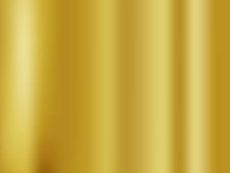 Abstract gold gredient metal color theme satin texture background. Lighting effects of flash. Blurred vector background with light glare Vector Illustratie