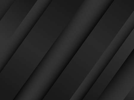 Creative minimal geometric with dynamic shapes abstract black color background wallpaper. Trendy vector illustration.