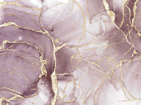 Abstract alcohol ink texture marble style background. Illustration