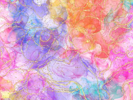 Abstract alcohol ink texture marble style background. EPS10 vector illustration design. Stock Photo