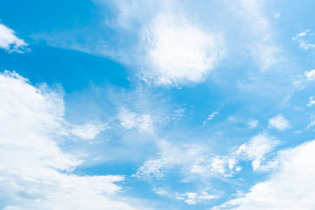 Copy space minimal concept of summer blue sky and white cloud abstract blank background.