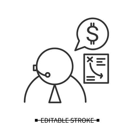 Financial advisor icon. Personal finances consultant simple vector illustration Ilustracja