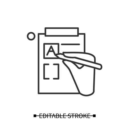 Version control icon. Hand fill editing control form. Vector illustration.